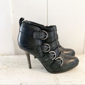 Coach Buckle Heeled Ankle Booties Women size 7